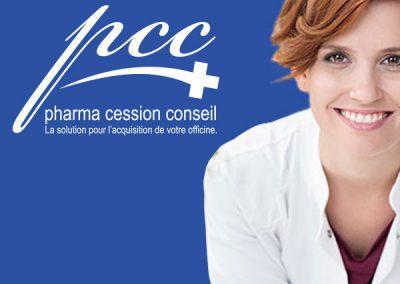 Pharma Cession Conseil : logo, site internet, imprimés
