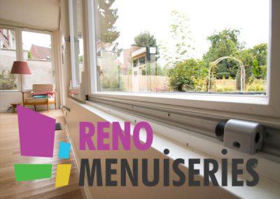Reno Menuiseries : logo, site vitrine, imprimés